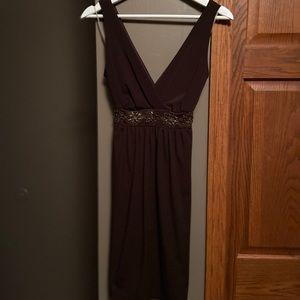 Brown mid-length dress